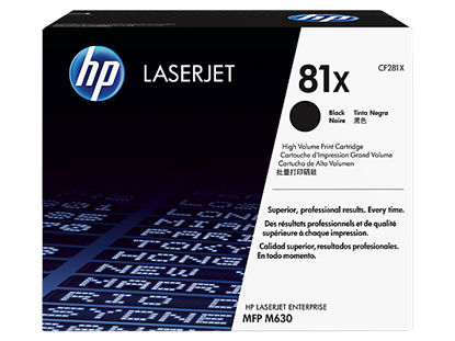 Picture of HP 81X High Yield Black Original LaserJet Toner Cartridge