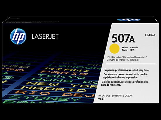 Picture of HP 507A Yellow Original LaserJet Toner Cartridge