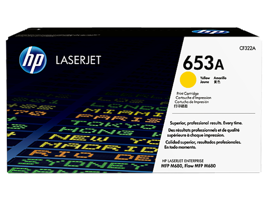 Picture of HP 653A Yellow Original LaserJet Toner Cartridge