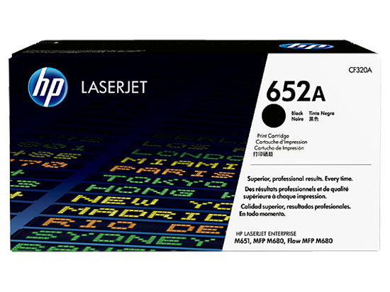 Picture of HP 652A Black Original LaserJet Toner Cartridge