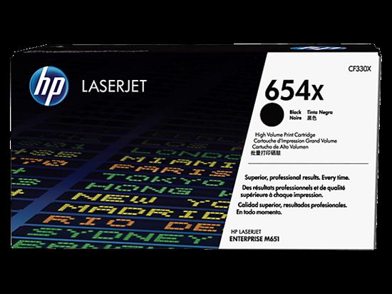 Picture of HP 654X High Yield Black Original LaserJet Toner Cartridge