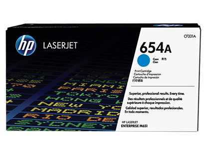 Picture of HP 654A Cyan Original LaserJet Toner Cartridge