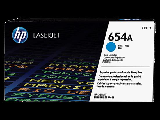 Picture of HP 654A Cyan Original LaserJet Toner Cartridge