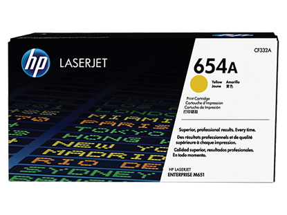 Picture of HP 654A Yellow Original LaserJet Toner Cartridge