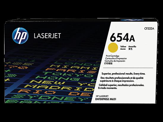 Picture of HP 654A Yellow Original LaserJet Toner Cartridge