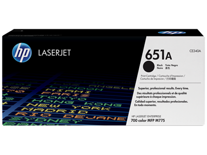 Picture of HP 651A Black Original LaserJet Toner Cartridge