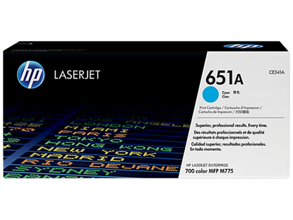 Picture of HP 651A Cyan Original LaserJet Toner Cartridge
