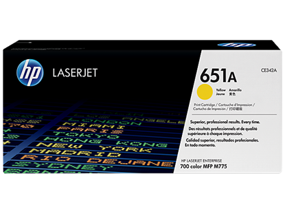 Picture of HP 651A Yellow Original LaserJet Toner Cartridge