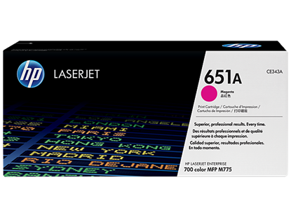 Picture of HP 651A Magenta Original LaserJet Toner Cartridge