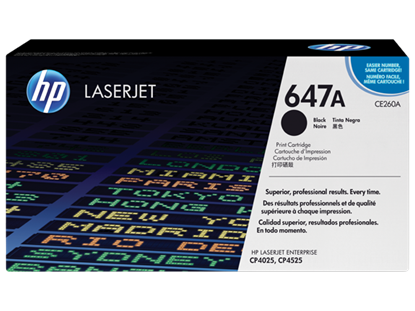 Picture of HP 647A Black Original LaserJet Toner Cartridge