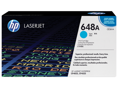 Picture of HP 648A Cyan Original LaserJet Toner Cartridge