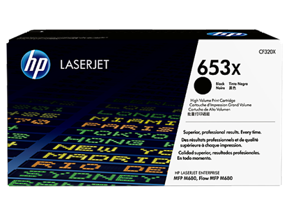Picture of HP 653X High Yield Black Original LaserJet Toner Cartridge