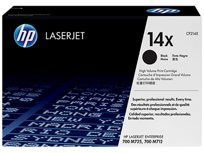 Picture of HP 14X High Yield Black Original LaserJet Toner Cartridge