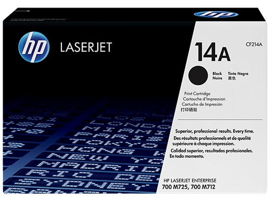 Picture of HP 14A Black Original LaserJet Toner Cartridge